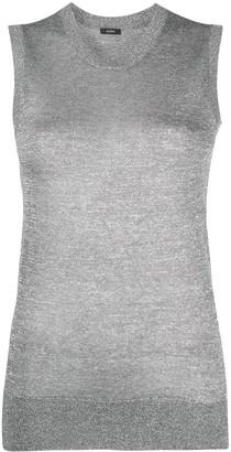 Joseph Glitter-Effect Fine-Knit Tank Top