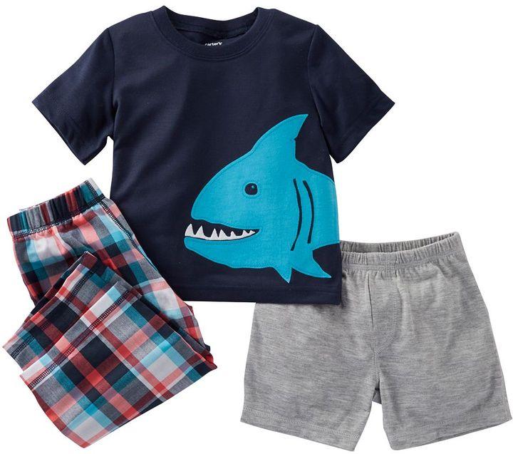 Carter's shark pajama set - toddler