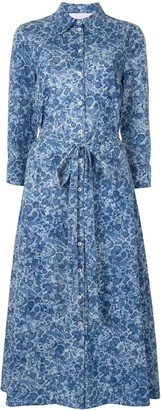 Carolina Herrera Floral Flared Shirt Dress
