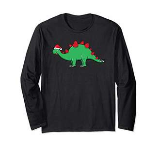 Berry Christmas Dinosaur Family Xmas Shirt for boys & girls Long Sleeve T-Shirt