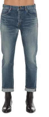 Saint Laurent Straight Denim Trousers