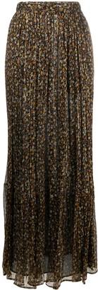Masscob Floral-Print Chiffon Maxi Skirt