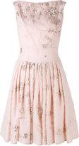 Talbot Runhof floral pleated dress - women - Acetate/Cupro/Silk/Polyamide - 38
