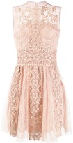 RED Valentino embroidered tulle sleeveless dress