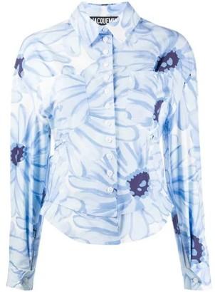 Jacquemus Blue Floral Print Blouse