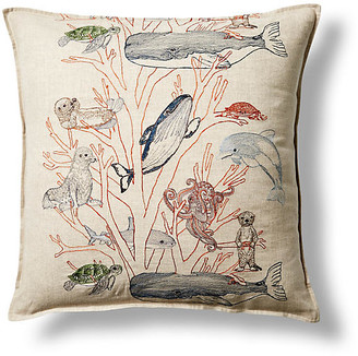 Coral & Tusk Coral Forest 20x20 Linen Pillow
