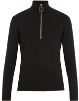 J.w.anderson Zip-up Stretch-wool Sweater