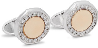 Dunhill Duke 18-Karat White And Yellow Gold Diamond Cufflinks