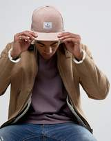 Asos Snapback Cap In Pink Faux Leather
