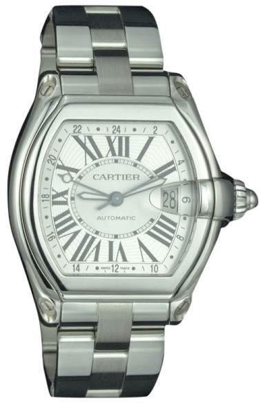 Cartier Roadster 2722 Stainless Steel Silver Dial 48mm Men's Watch