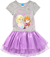 Jerry Leigh Frozen Purple Elsa & Anna Tutu Dress - Girls