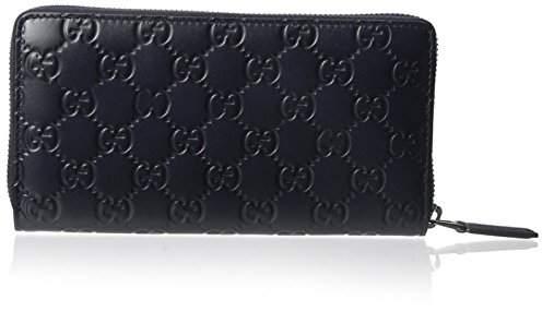 Gucci Men's Tonal Leather GG Zip Around Wallet