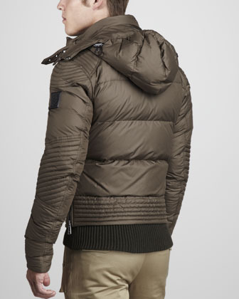 Belstaff Caine Down Puffer Motorcycle Jacket
