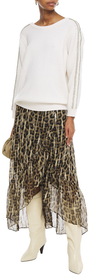 Thumbnail for your product : BA&SH Delhia Embellished Wool And Cashmere-blend Sweater