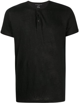 Majestic Filatures Short-Sleeve Henley Shirt