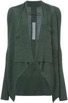 Rick Owens shawl lapel cropped cardigan - women - Wool - S