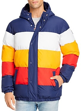 Fila Giovanni Color-Block Puffer Jacket
