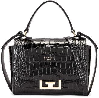 Givenchy Mini Eden Embossed Croc Bag in Black   FWRD