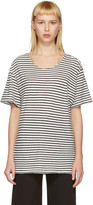 R 13 Black and White Striped Rosie T-shirt