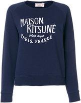 MAISON KITSUNÉ logo print sweatshirt - women - Cotton - S