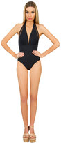 Caffe Swimwear - Open Back One Piece In Black