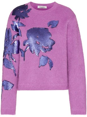Valentino Sequin-Embroidered Sweater