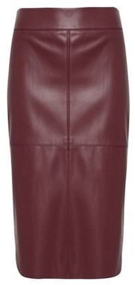 Dorothy Perkins Womens Dp Petite Berry Pu Midi Skirt
