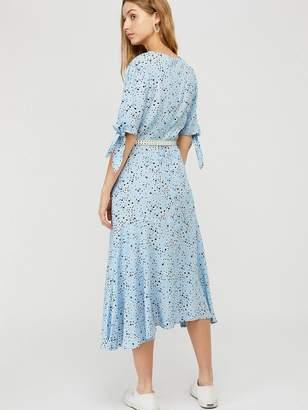 Monsoon Miyah Print Tiered Dress - Blue