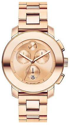 Movado BOLD Bold Rose Gold Stainless Steel Chronograph Watch