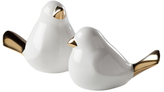 Torre & Tagus Finch Tipped Ceramic Figurines (Set of 2)