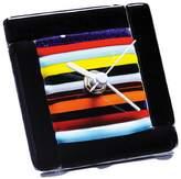 """Murano Rainbow Glass Clock 3.5"""" square"""