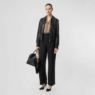 Burberry Silk Satin Trousers