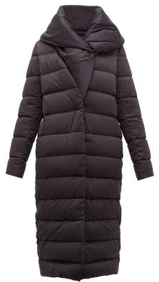 Herno Bon Bon Shawl Collar Nylon Coat - Womens - Black