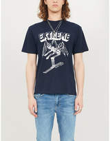 The Kooples Graphic-print cotton-jersey T-shirt