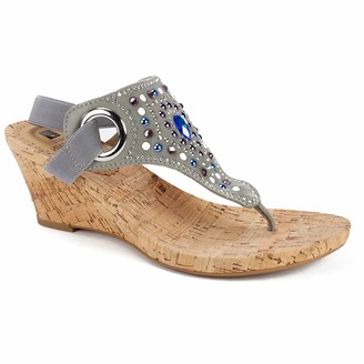 White Mountain Shoes Adeline Women's Sandal DK.Grey/FAB (W/Natural Cork) 6H M