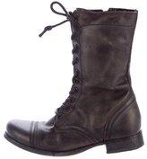 AllSaints Leather Combat Boots