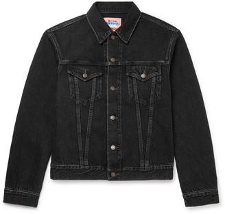 Acne Studios Denim Trucker Jacket - Men - Black