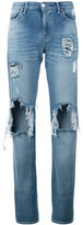 7 For All Mankind denim distressed jeans