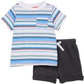 Isaac Mizrahi Striped Short Sleeve Tee & Short Set (Baby Boys 12-24M)