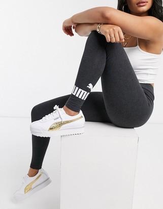 Puma essentials dark grey logo leggings