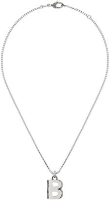 "Gucci Silver ""B"" letter necklace"