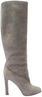 Christian Louboutin \N Grey Suede Boots