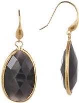 Rivka Friedman Teardrop Grey Cat's Eye Crystal Dangle Earrings