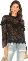 Saylor Mariella Blouse in Black. - size L (also in M,S,XS)