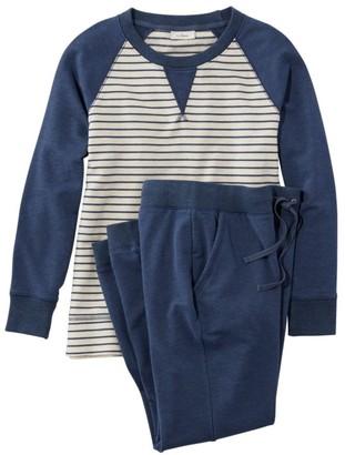 L.L. Bean Women's Wicked Soft Knit Pullover Set, Stripe