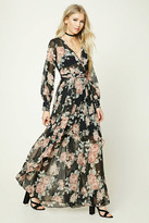 Forever 21 FOREVER 21+ Floral Surplice Maxi Dress