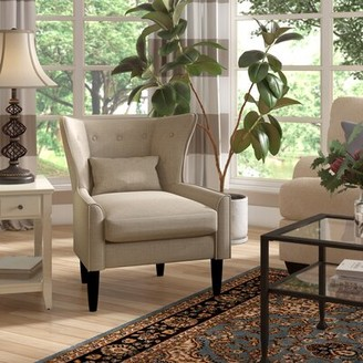 Three Posts Millett Wingback Chair Fabric: Beige