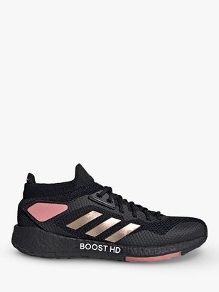 adidas PulseBOOST HD Women's Running Shoes, Core Black/Copper Metallic/Glow Pink