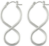 David Jones Infinity Twist Hoop Earring