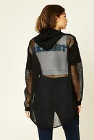 Forever 21 FOREVER 21+ Realist Graphic Mesh Hoodie